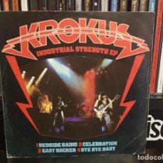 Discos de vinilo: KROKUS - INDUSTRIAL STRENGTH EP. Lote 244668410