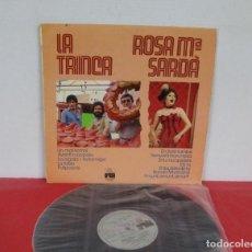 Discos de vinilo: LA TRINCA & ROSA Mª SARDÁ - UN MAL SOMNI - LP - ARIOLA 1979 SPAIN 00-248. Lote 244678875