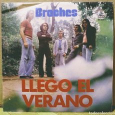 Discos de vinilo: BROCHES - LLEGÓ EL VERANO / QUIÉN ERES TÚ SG DIRESA 1974. Lote 244681930