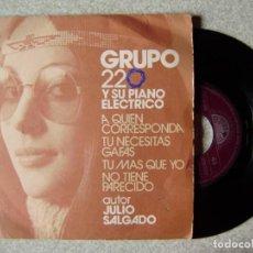 Discos de vinilo: GRUPO 220.A QUIEN CORRESPONDA + 3...SPANISH GROOVE...RARO...PROMO. Lote 244691245