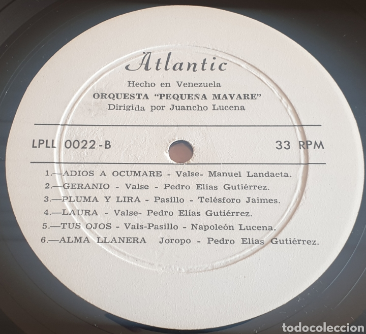 Discos de vinilo: LP ORQUESTA LA PEQUEÑA MAVARE DE JUANCHO LUCENA - Música Venezolana (Venezuela - Atlantic - 1970) - Foto 8 - 244695105