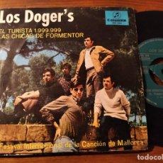 Discos de vinilo: LOS DOGER'S - EL TURISTA 1.999.999 ************** RARO SINGLE PROMO 1967 BUEN ESTADO!. Lote 244701415