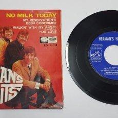 Discos de vinilo: HERMAN'S HERMITS. NO MILK TODAY. EP. HECHO EN ESPAÑA 1966. EMI.. Lote 244701530
