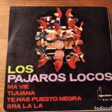 Discos de vinilo: LOS PÁJAROS LOCOS - SHA LA LA + 3 ************** RARO EP 1964!. Lote 244701680