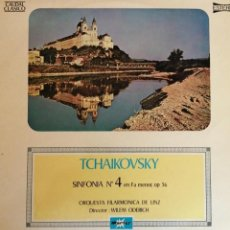 Discos de vinilo: LP VINILO TCHAIKOVSKY SINFONIA Nº4 EN FA MENOR, OP 36. Lote 244704735