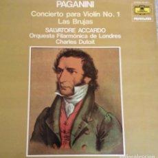 Discos de vinilo: LP VINILO PAGANINI CONCIERTO PARA VIOLIN Nº 1 LAS BRUJAS. Lote 244707145