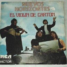 Discos de vinilo: NUEVOS HORIZONTES: EL VIOLÍN DE CARTÓN / EL DÍA ESPERADO (RCA VÍCTOR 1973). Lote 244707440