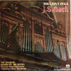 Discos de vinilo: LP VINILO TOCCATA Y FUGA BACH THE HAMBURG SYMPHONY ORCHESTRA. Lote 244708170