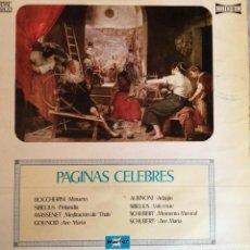 Discos de vinilo: LP VINILO CAUDAL CLASICO, PAGINAS CELEBRES. Lote 244708635