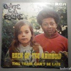Discos de vinilo: VINILO SENCILLO - CAFÉ CON LECHE - BACK OF THE RAINBOW, THIS TRAIN CAN BE LATE - RCA VICTOR 1974. Lote 244709225
