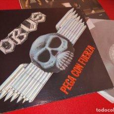Discos de vinilo: OBUS PEGA CON FUERZA LP 1985 CHAPA DISCOS HEAVY NACIONAL ORIGINAL VINILO EXCELENTE. Lote 244714095