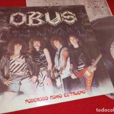 Discos de vinilo: OBUS PODEROSO COMO EL TRUENO LP 1982 CHAPA DISCOS HEAVY NACIONAL VINILO ORIGINAL. Lote 244714820