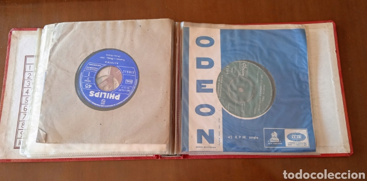 Discos de vinilo: Interesante álbum 12 discos single antiguos. ZAFIRO, BELTER Microsurco, DEMON,TELEFUNKEN, ODEON,.. - Foto 13 - 244716130