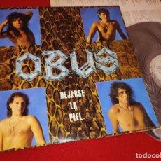 Discos de vinilo: OBUS DEJARSE LA PIEL LP 1986 CHAPA DISCOS HEAVY NACIONAL ORIGINAL VINILO EXCELENTE. Lote 244716190