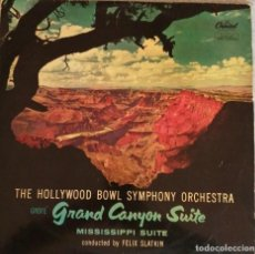 Discos de vinilo: THE HOLLYWOOD BOWL SYMPHONY ORCHESTRA - GRAND CANYON SUITE / MISSISSIPPI SUITE - EDICIÓN 1958 ESPAÑA. Lote 244717565