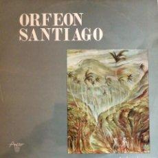 Discos de vinilo: ORFEON SANTIAGO DESDE CUBA CON RITMO LP. Lote 244718760