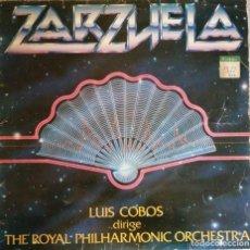Discos de vinilo: ZARZUELA LUIS COBOS DIRIGE THE ROYAL PHILHARMONIC ORCHESTRA. Lote 244719265