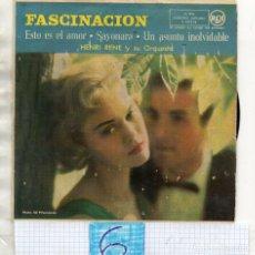 Discos de vinilo: HENRI RENE Y ORQUESTA - PEDIDO MÍNIMO 10€ EN ARTÍCULOS. Lote 244725125