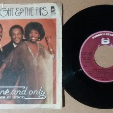 Discos de vinilo: GLADYS KNIGHT & THE PIPS / THE ONE AND ONLY / SINGLE 7 PULGADAS. Lote 244725500