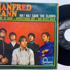 Discos de vinilo: SINGLE EP MANFRED MANN ‎– HA! HA! SAID THE CLOWN EDICION ESPAÑOLA DE 1967. Lote 244739230