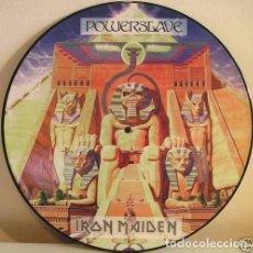 Discos de vinilo: IRON MAIDEN POWERSLAVE FOTODISCO. Lote 244746655