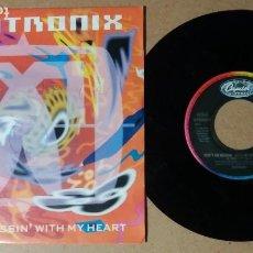 Discos de vinilo: MANTRONIX / DON'T GO MESSIN WITH MY HEART / SINGLE 7 PULGADAS. Lote 244746825