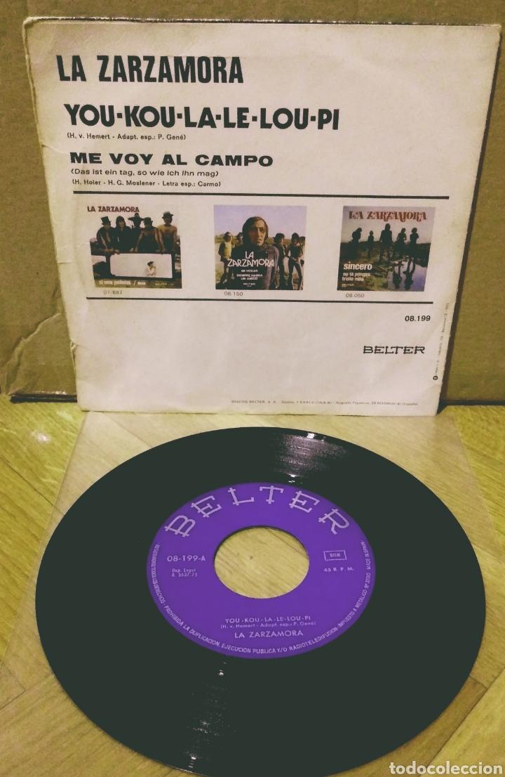 Discos de vinilo: LA ZARZAMORA - YOU-KOU-LA-LE-LOU-PI / ME VOY AL CAMPO SG Belter 1973 - Foto 2 - 244749840
