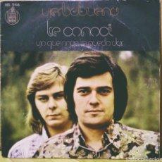 Discos de vinilo: YERBABUENA - TE CONOCÍ / YO QUÉ MÁS TE PUEDO DAR SG HISPAVOX 1973. Lote 244751595