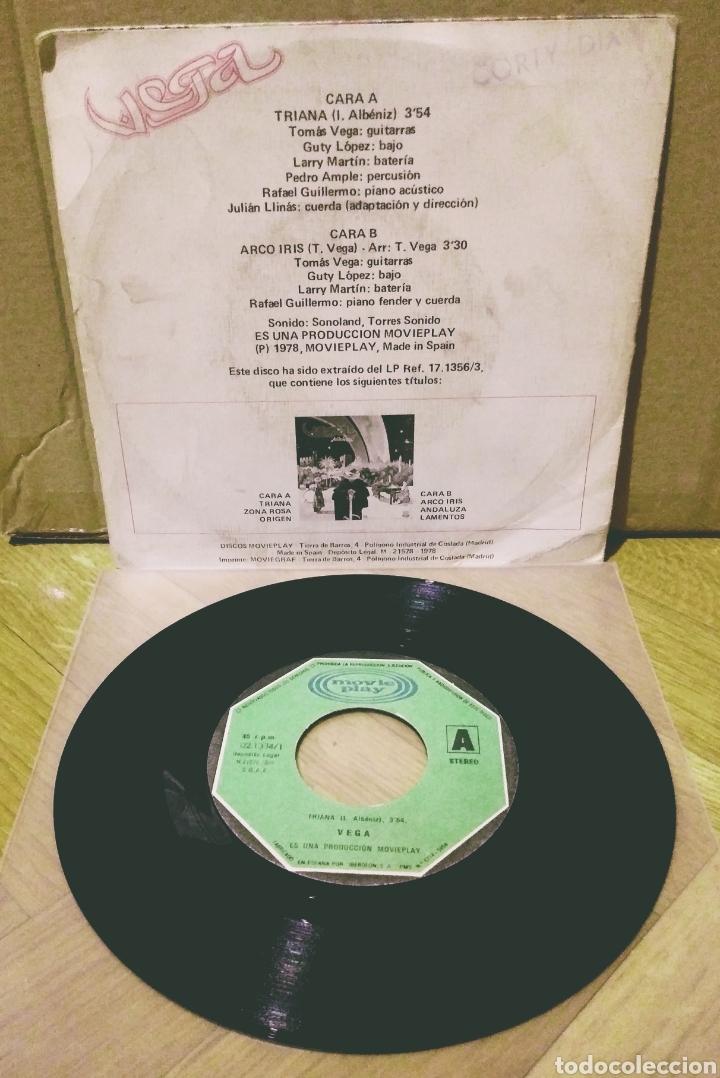 Discos de vinilo: VEGA - TRIANA / ARCO IRIS SG Movieplay 1978 - Foto 2 - 244753985