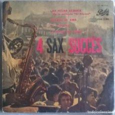 Discos de vinilo: GUY LAFITTE. 4 SAX SUCCES. LAS HOJAS VERDES (BSO EL ALAMO)/ CUANDO SE AMA/ EL FUGITIVO. PATHE 1961. Lote 244758320