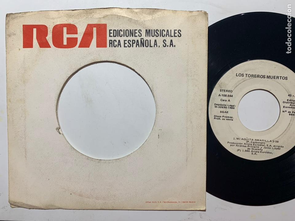 SINGLE EP LOS TOREROS MUERTOS MI AGÜITA AMARILLA PROMO EDICIÓN ESPAÑOLA DE 1986 (Música - Discos - Singles Vinilo - Grupos Españoles de los 70 y 80)