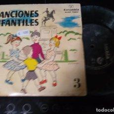 Discos de vinilo: CANCIONES INFANTILES DE JUEGO Y CORRO / EP 45 RPM COLUMBIA. Lote 244764010