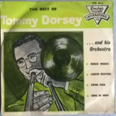 Discos de vinilo: TOMMY DORSEY. BOOGIE WOOGIE/ LOSERS WEEPERS/ SWING HIGH/ SONG OF INDIA. EMBER, UK 1962 EP (EMB 4513). Lote 244766155