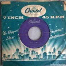 Discos de vinilo: LOUIS PRIMA. OH MARIE/ BUONA SERA. CAPITOL, HOLLAND 1958 SINGLE. Lote 244769180