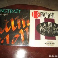 Discos de vinilo: SANGTRAIT - LOTE DE DOS LPS MUY NUEVOS - CON LETRAS. Lote 244770330