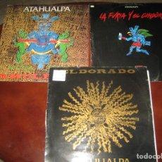 Discos de vinilo: ATAHUALPA - LOTE DE 3 LPS. Lote 244770620