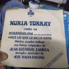 Discos de vinilo: NURIA TORRAY.. Lote 244773600