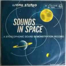 Discos de vinilo: VVAA. SOUNDS IN SPACE. RCA-VICTOR 61-7370. GERMANY 1958 SINGLE. Lote 244775255