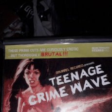 "Discos de vinilo: E.P. 7"" 45 RPM - TEENAGE CRIME WAVE (VARIOUS-GARAGE PUNK ROCK-SQUIRREL RECORDS). Lote 244782430"