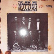 Discos de vinilo: L.P. THE NOTTING HILLBILLIES - MISSING... PRESUMED HAVING A GOOD TIME (1990 MARK KNOPFLER). Lote 244783005