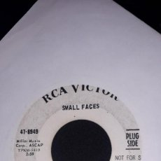"""Discos de vinilo: SINGLE 7"""" 45 RPM - SMALL FACES """"ALL OR NOTHING""""//""""UNDERSTANDING"""" (PROMO - 1966 CLASSIC MOD R&B). Lote 244783150"""