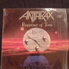 Discos de vinilo: ANTHRAX - PERSISTENCE OF TIME LP. Lote 244796335