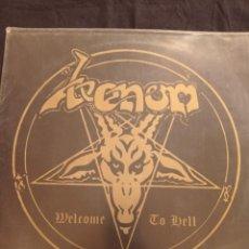 Discos de vinilo: VENOM - WELCOME TO HELL LP. Lote 244800880