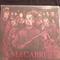 Discos de vinilo: MACABRE - HUMAN MONSTERS LP. Lote 244808010