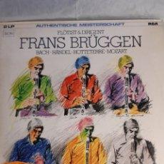 Discos de vinilo: 2 LP FRANS BRUGGEN AUTHENTISCHE MEISTERSCHAFT BACH HANDEL MOZART. Lote 244813990