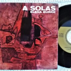 "Discos de vinilo: ELENA BURKE - "" A SOLAS "" EP 7"" CUBA 1962. Lote 244816470"