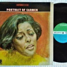 "Discos de vinilo: CARMEN MCRAE - "" PORTRAIT OF CARMEN "" LP 1ST PRESSING 1968 STEREO USA. Lote 244820035"