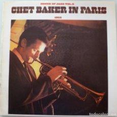 Discos de vinilo: CHET BAKER IN PARIS (LP MOVIEPLAY-BARCLAY 1980) HOUSE OF JAZZ VOL. 3. Lote 244820410