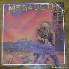 Discos de vinilo: MEGADETH, PEACE SELLS... BUT WHO'S BUYING?. Lote 244821860