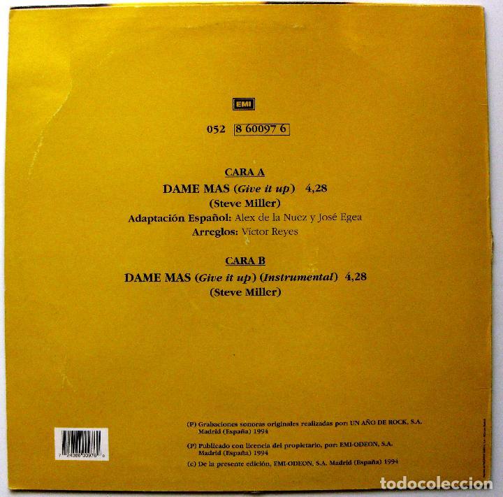 Discos de vinilo: Alex De La Nuez - Dame Mas - Maxi EMI 1994 BPY - Foto 2 - 244827735